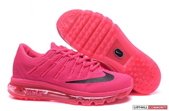 All Pink Black Flyknit Air Max 2016 Womens www.cheapestrunning.com
