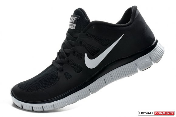 Nike Free Run 5.0 V2 Mens Black White www.cheapestrunning.com
