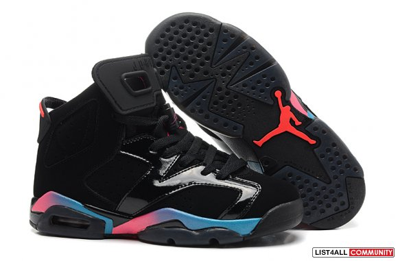 Cheap Jordans 6 vi Black Blue Pink Retro,www.cheapjordan14.org