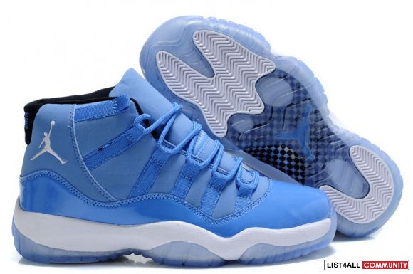 Cheap Air Jordan 11 Retro University Blue White www.cheapjordan45.com