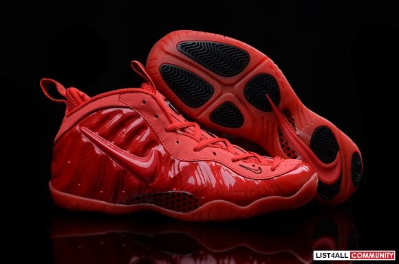 All Red Black Nike Air Foamposite One www.cheapkobe11.org
