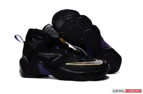 Cheap Lebron 13 Gold Purple Black For Kids www.cheaplebron13nike.com