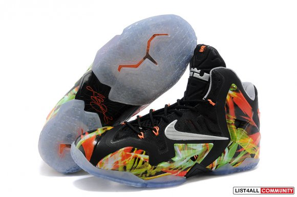 Cheap Lebron 11 Orange Black Green On Sale www.cheaplebron13shoe.com