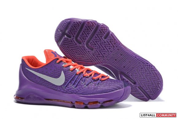 Cheap Nike KD VIII Purple Orange Grey,www.cheaplebron13shoe.com