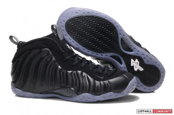 Cheap Nike Foamposites Black Light Blue On www.Cheaplebron13shoe.com
