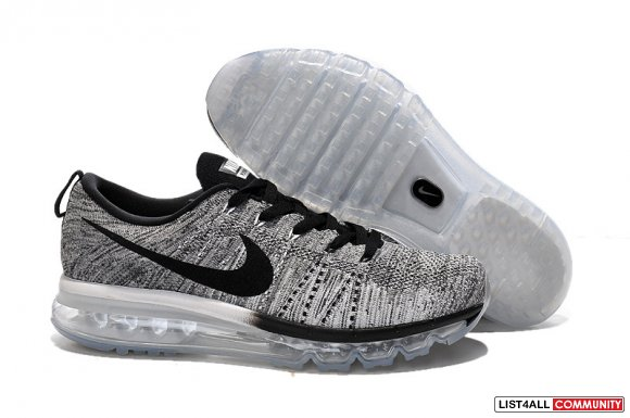 Cheap Flyknits Air Max Grey Black www.cheaprosheshoes.com