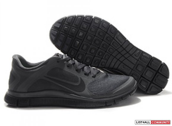 Cheap Mens Nike Free 4.0 V3 All Black www.cheaprunning.org