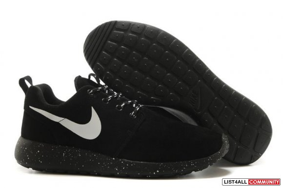 Nike Free Roshe Run Black White,www.cheaprunsales.com