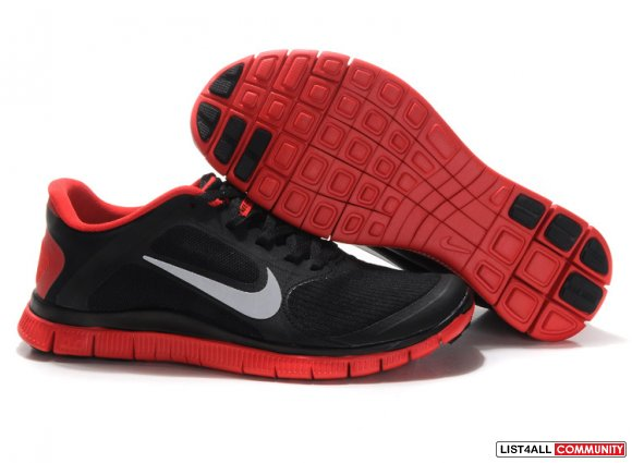 Nike Free 4.0 V3 Black Red www.cheaprunsales.com