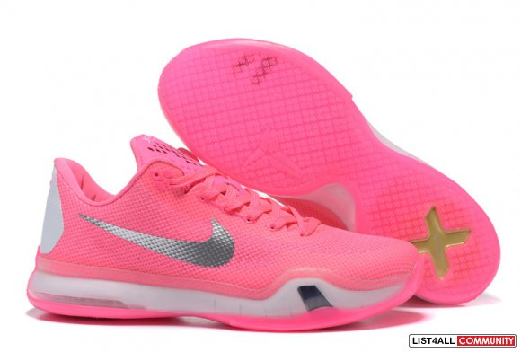Cheap Kobe 10 Shoes Pink Grey,www.cheapskd9.com