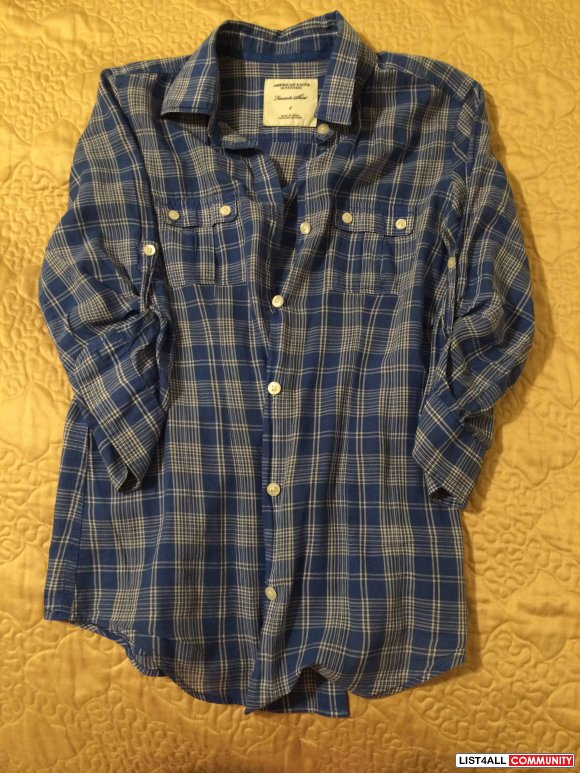 2 Flannel tops