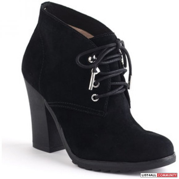 Michael Kors Elliot Suede Lace-Up Ankle Boots