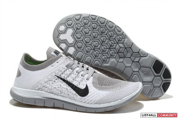 Nike Free 4.0 Flyknit Men White Grey Black,www.freemercurial.com