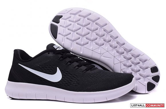 Cheap Nike Free RN Distance Black White www.freerundistance.com