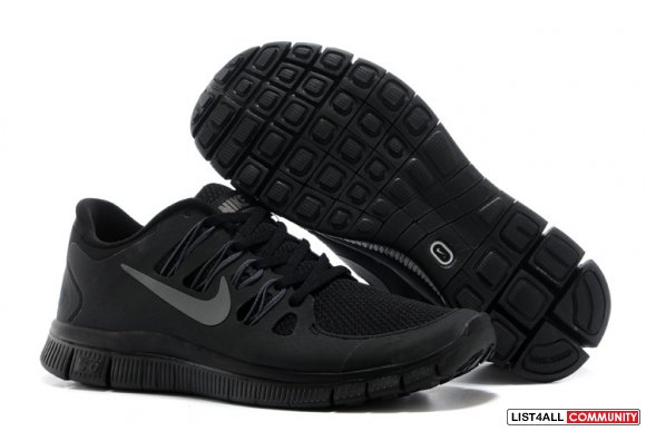 Nike Free 5.0 Mens All Black Training Shoes,www.freerunning2015.com