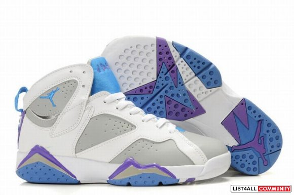 2015 Air Jordan 7 Retro White Grey Blue Womens 27727,www.jordanpremium