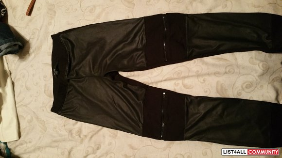 leather legging pants from GUESS
