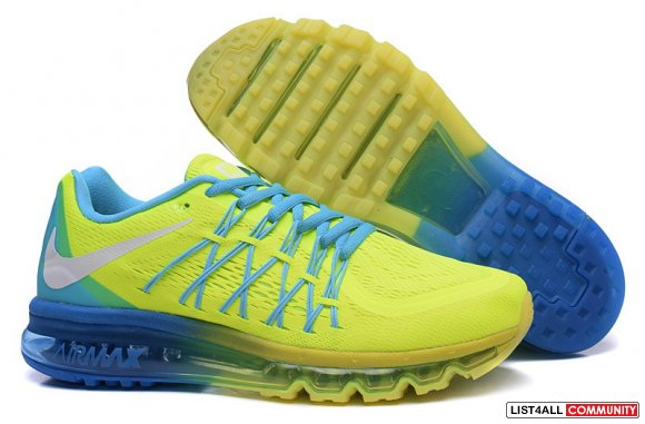Cheap Air Max 2015 Shoes Yellow Blue Green Grey,www.kd8easy.com