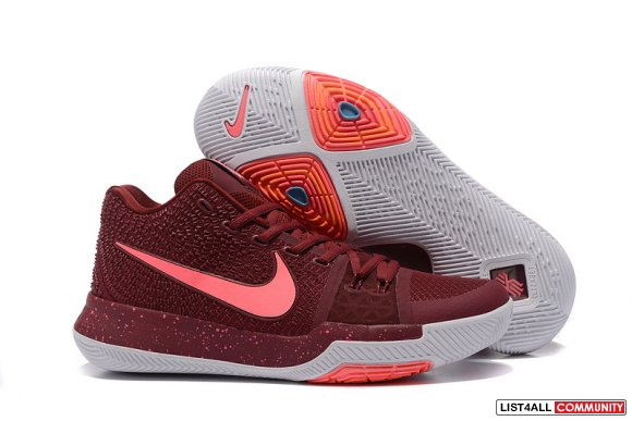 Cheap Nike Kyrie 3 Wine Red Pink White,www.lebrons-cheap.com