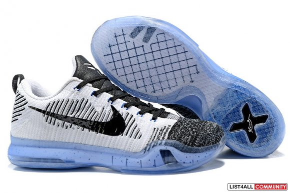 Cheap NikeKobe 10 Flyknit Black Grey,www.cheaplebronsoldier.com