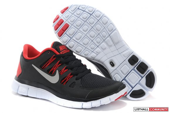 Nike Free 5.0 Mens Black Red Training Shoes,www.maxflyknits.org