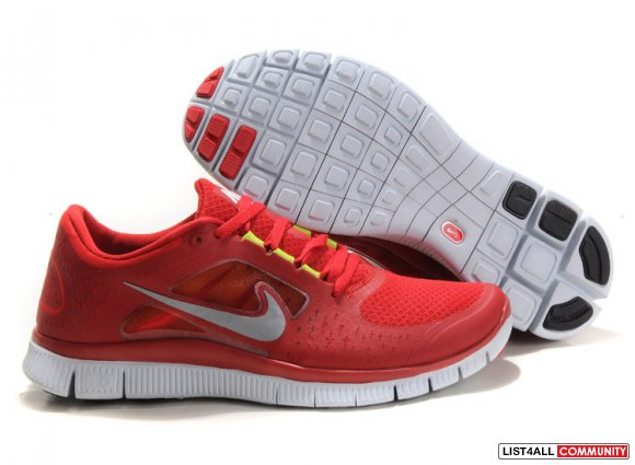 Nike Free Run 3 Mens Running Shoes Red,www.maxflyknits.org