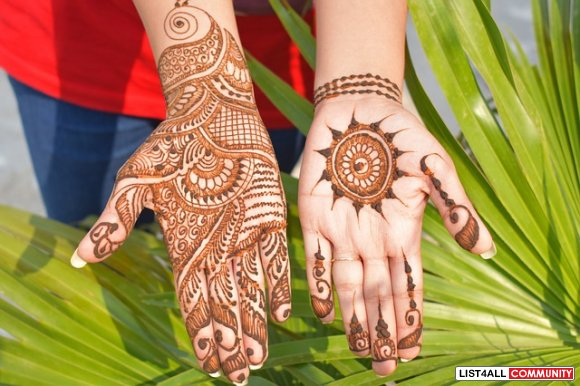 Personalised Bridal Mehendi and Henna Tattoo Service: Call Today