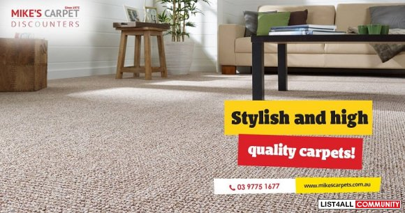 Get the Best Carpets in Melbourne from Mike's Carpet