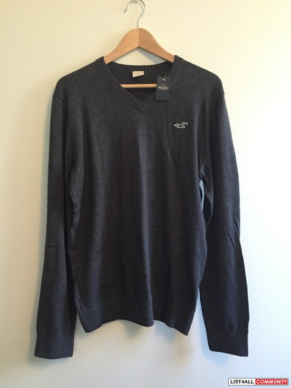 Hollister Medium Grey Sweater Large L BNWT Top