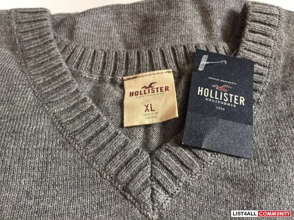 Hollister Grey Sweater X-Large XL BNWT Top
