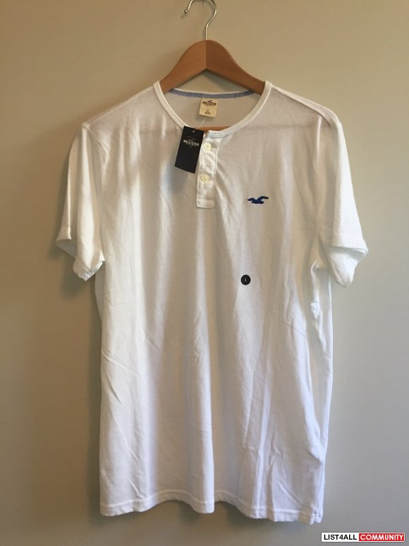 Hollister White Shirt Large L BNWT Top