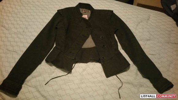 Juicy Couture Denim Blazer Jacket Petite Small size