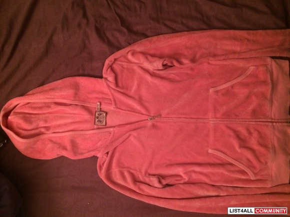 Juicy Couture Terry Cloth Hoody Size P (Petite/Small)