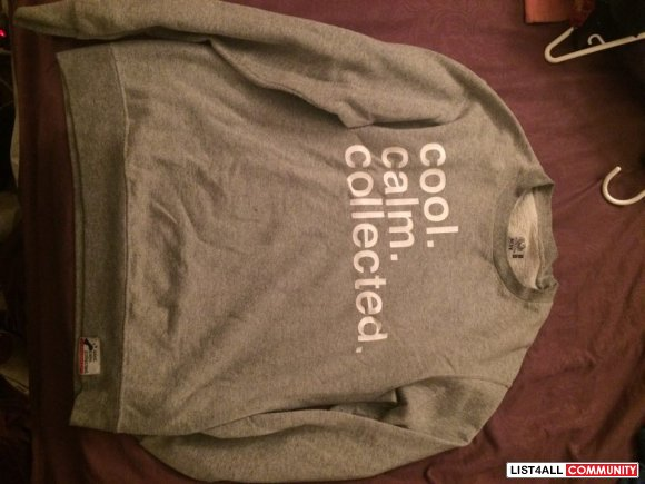 Cool Calm Collected Crew Neck Grey Size Small