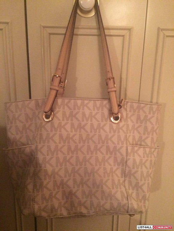Michael Kors Jet Set Logo Tote White/Cream Monologue