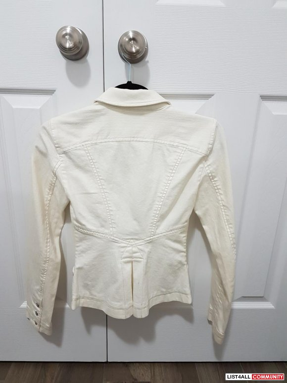 ARMANI EXCHANGE CREAM BLAZER IN XS