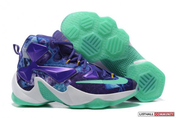Cheap NIKEiD Lebron 13 Grass Green Blue www.newlebron13.com
