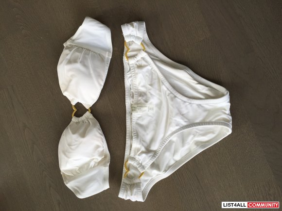 Victoria's Secret Heart Bikini - White, S/M