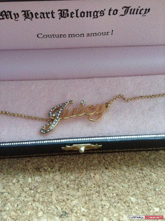 Juicy Couture Pave Script Gold Chain Bracelet YJRU4029
