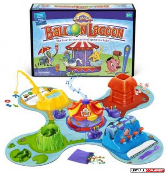 Cranium Balloon Lagoon Age 5+, 3 AAs required, $30 MSRP