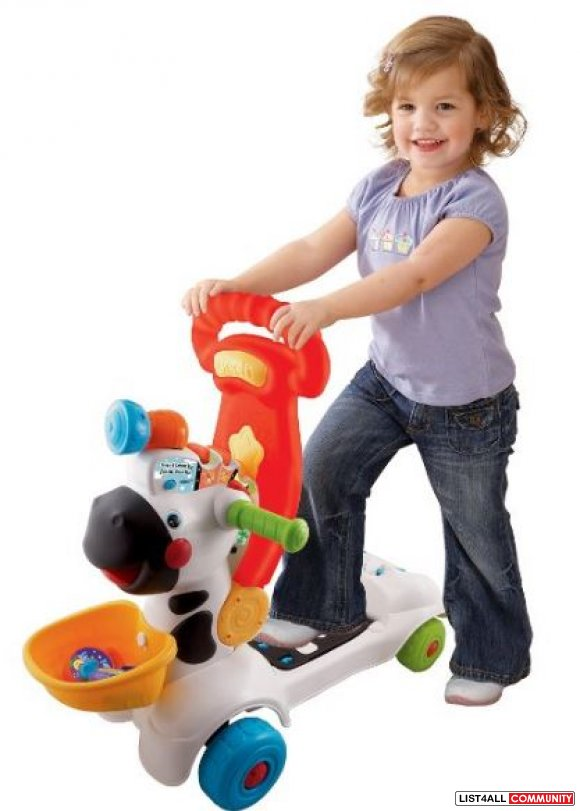 VTech-3-in-1 Learning Zebra Scooter Ages 1-3, 2 AAs required, $54.99 M
