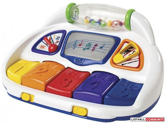 Baby Einstein Count & Grow Piano Ages 6 to 24 mo., 3 AAs required, $24