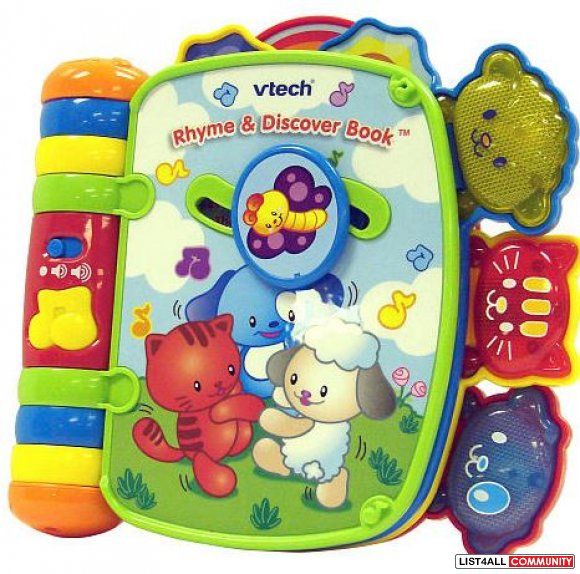 Vtech Rhyme and Discover Book Ages 6 to 36 mo., 2 AAAs required, $24.9