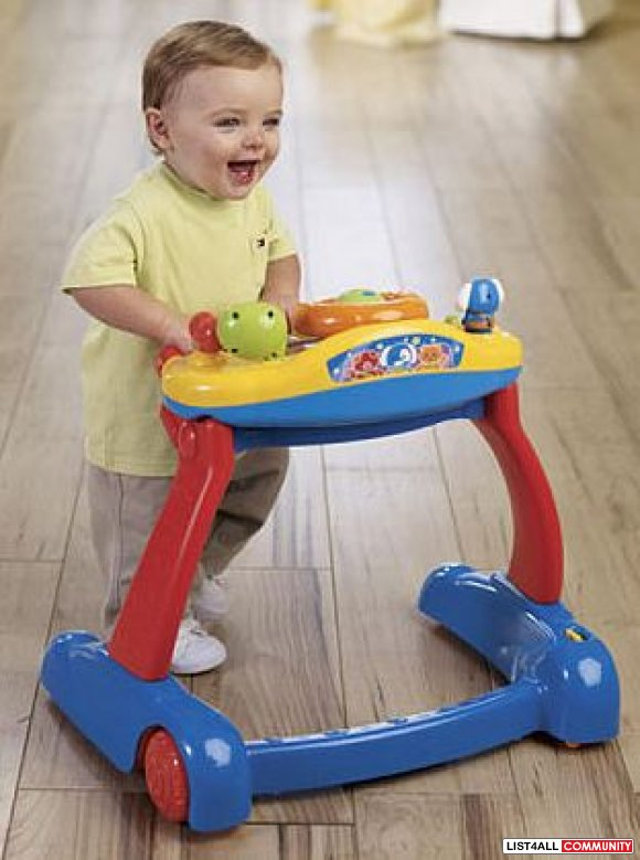 Vtech Sit and Stand Activity Walker Ages 9 to 24 mo., 3 AAs required,