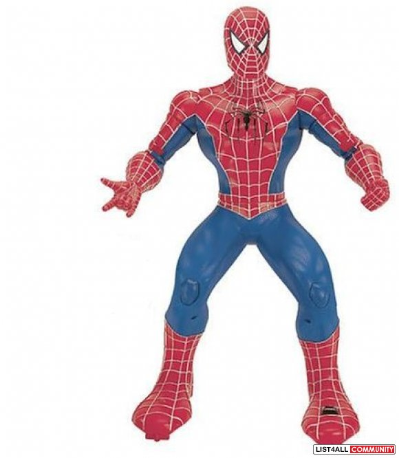 Spider-Man 3 Action Toy Ages 3-6, 4 AAs required, $29.99 MSRP