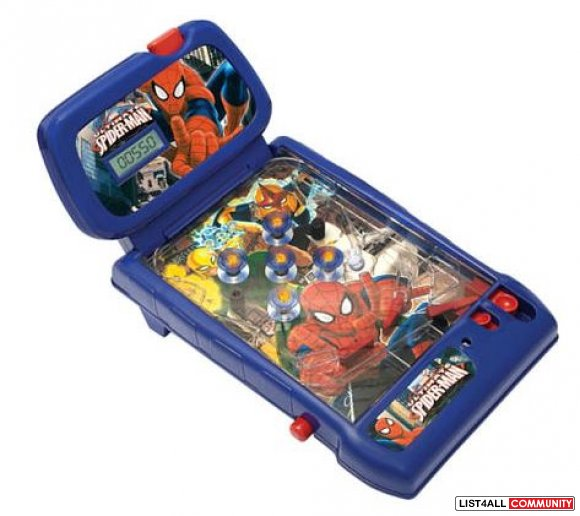 Spiderman Pinball Ages 4-10, 2 Cs required, $29.99 MSRP