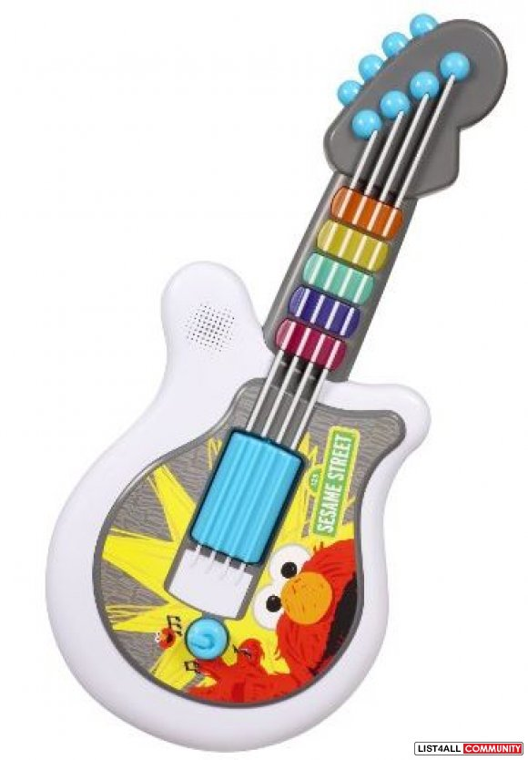Sesame Street Guitar Ages 18+ mo. 3 AAs required, $24.99 MSRP