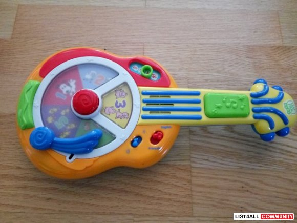 LeapFrog Baby Guitar Ages 6-24 mo., 3 AAs required, $24.99 MSRP