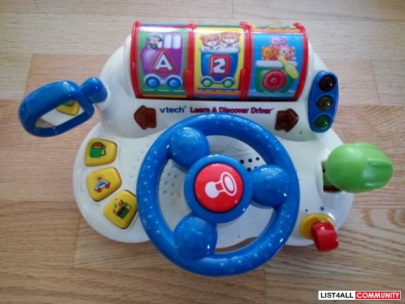 Vtech Learn and Discover Driver Ages 6-24 mo., 2 AAs required, $24.99