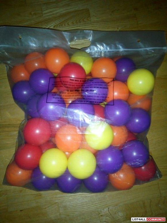 Balls (approx 90) Ages 1-5, $19.99 MSRP